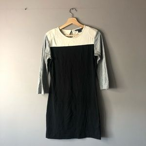French connection dress tunic black gray 10
